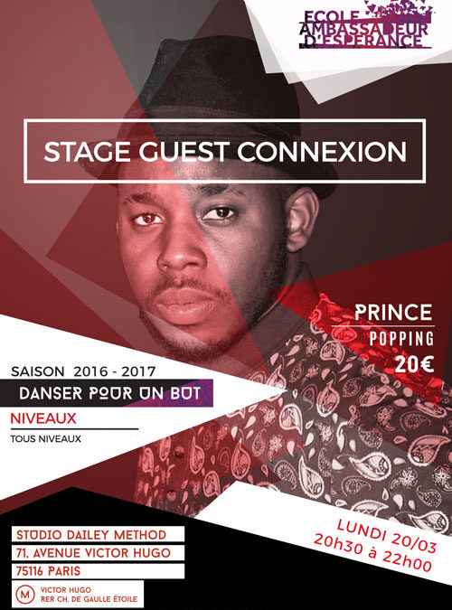 Stage Popping avec Prince